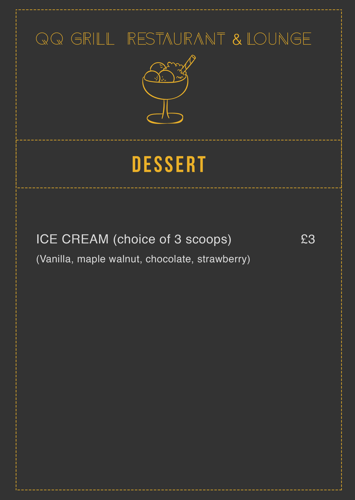 QQ Lounge dessert