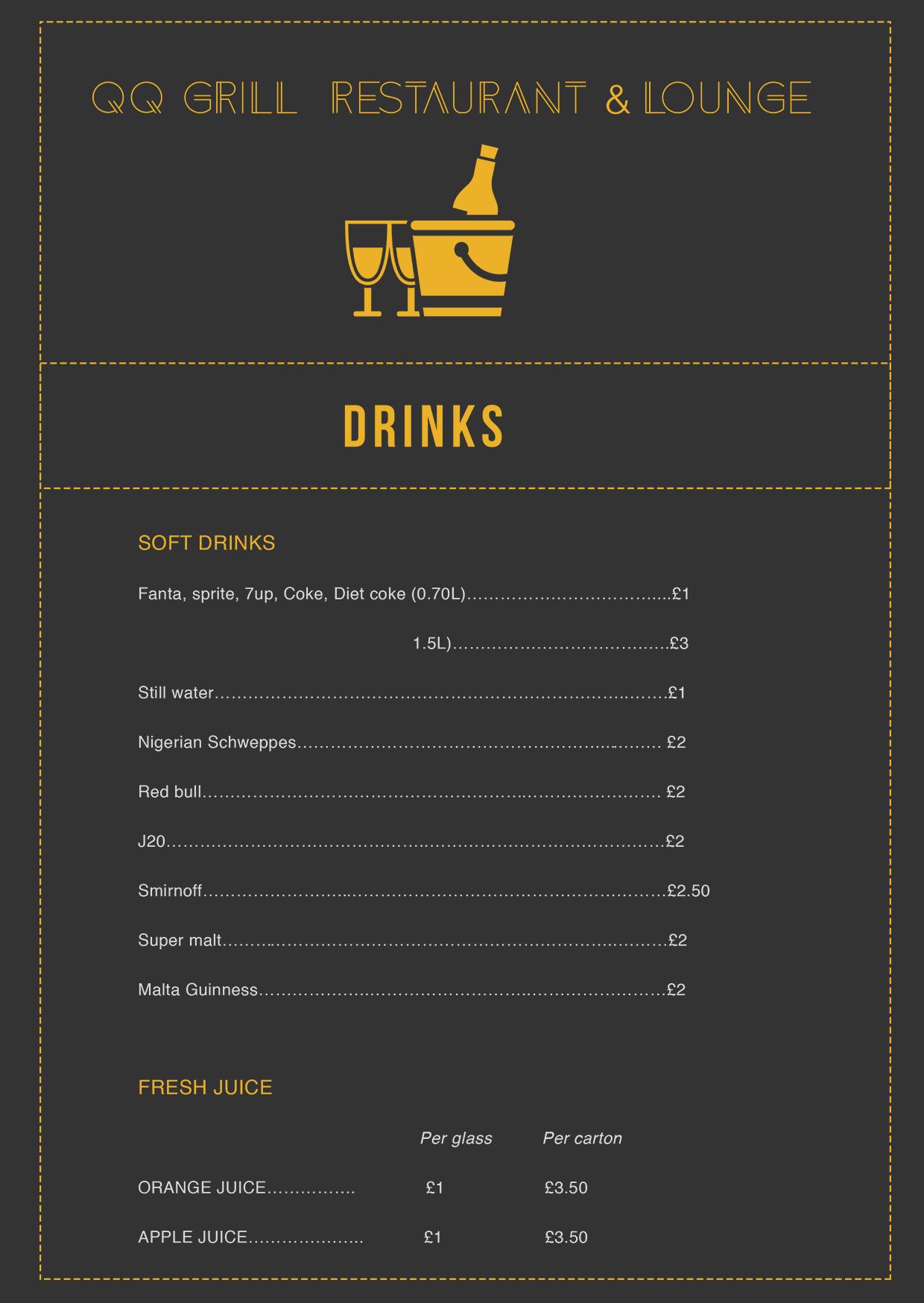 QQ Lounge drinks
